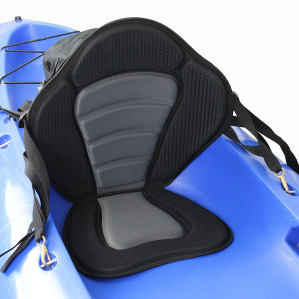 Deluxe Padded Kayak Boat Seat Rowing Boat Soft and Antiskid Padded Base High Backrest Adjustable Kayak Cushion with Backrest