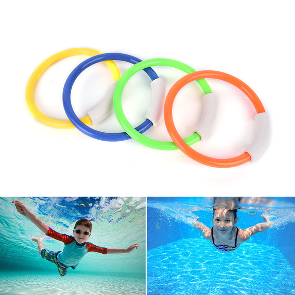 4Pcs Dive Rings Swimming Pool Diving Game Summer Kid Underwater Diving Ring Sport Diving Buoys Four Loaded Throwing Toys