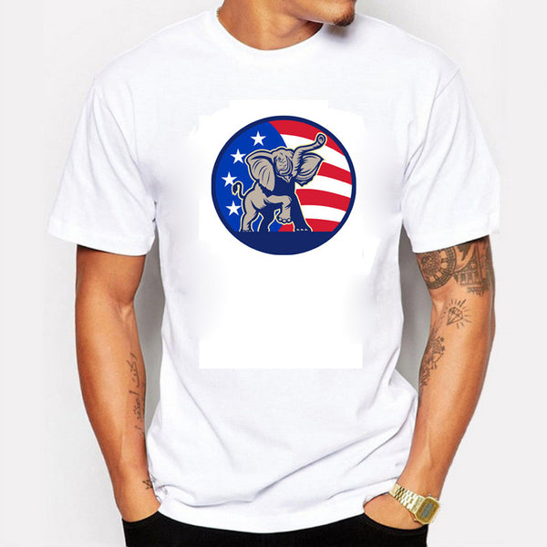 New 2016 Donald Trump Tshirt Men USA President Election Fitness Cotton White Tshirts