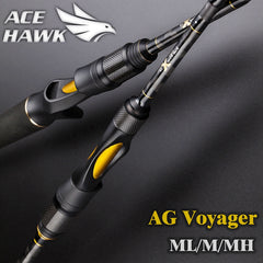 AG Voyager Spinning Baitcasting 4 Sections Travel Fishing Rod