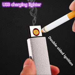 2017 Hot Selling small Rechargeable electric USB Windproof flameless cigar Electronic charging Cigarette lighter No gas lighters