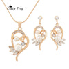 2017 New Hot Sale Simulated Pearl Crystal Wedding Necklaces Earrings Bridal Jewelry Set For Women