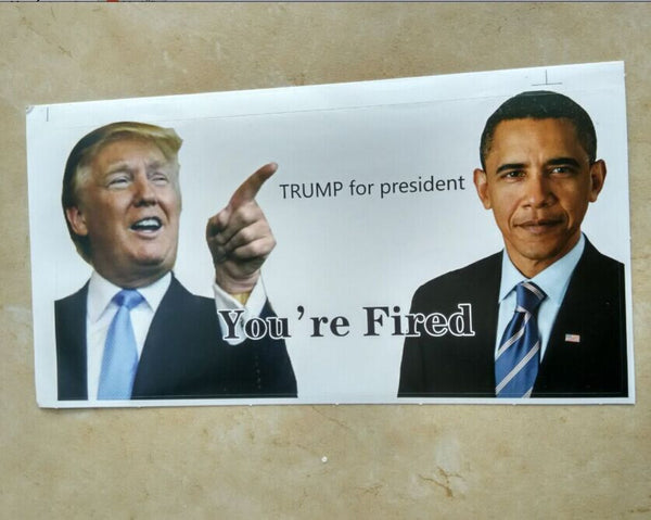 New Design 2pcs Donald Trump for President Make America Great Again Bumper Stickers size 10*20cm from Jessy