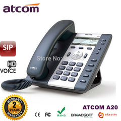 ATCOM A20 2 SIP Line Entry-level business IP Phone Dual core CPU, HD voice, backlight LCD  Desktop office VoIP telephone
