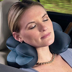Neck Pillow Microbead Portable Pillow - Use at Home or On The Go To Support Your Neck Work Travel pillow