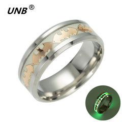 UNB 2017 Retro Luminous Men Ring Stainless Steel Batman Men's Rings Wedding Jewelry for Women Metal Material Bijoux Wholesale