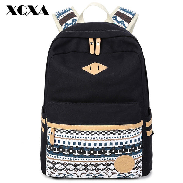 New Hot Sale 2017 Ethnic Purple Vintage Stylish Backpack for School Teenagers Girls