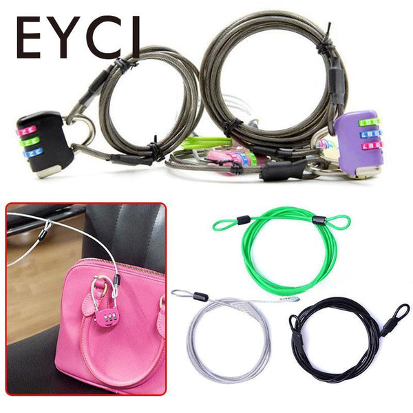 EYCI 200CM x 2.5 MM Sport Security Loop Bicycle Cable Lock