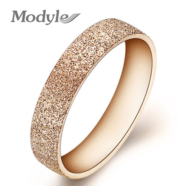 Modyle Fashion Jewelry High Quality 316L Stainless Steel Rings Dull Polish Single Ring Wedding Ring Engagement Ring