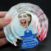 Hillary Clinton Creative Smoking Gift for Feminists Campaigning Collectibles Crystal Ashtray