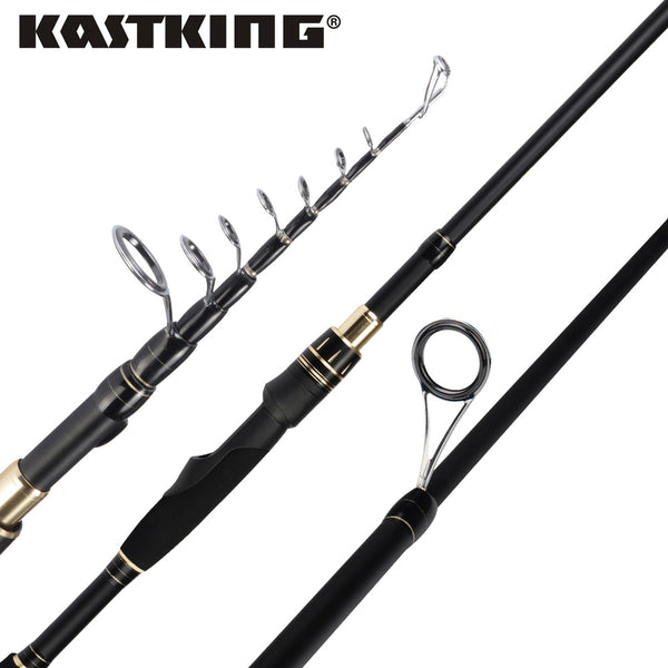 KastKing Blackhawk II New Portable Carbon Telescopic Spinning Fishing Rod