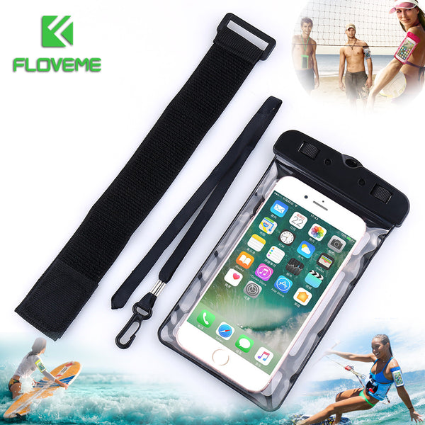 FLOVEME Universal IPX8 Waterproof Case for iPhone X 8 Plus Swimming Phone Case For Samsung Galaxy S8 Plus Note 8 Phone Pouch Bag