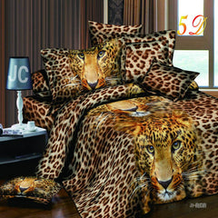 Home Textiles 3D Bedding Sets Cotton Leopard Grain Rose Panther Queen 4 Pcs Duvet Cover Bed Sheet Pillowcase Bedclothes