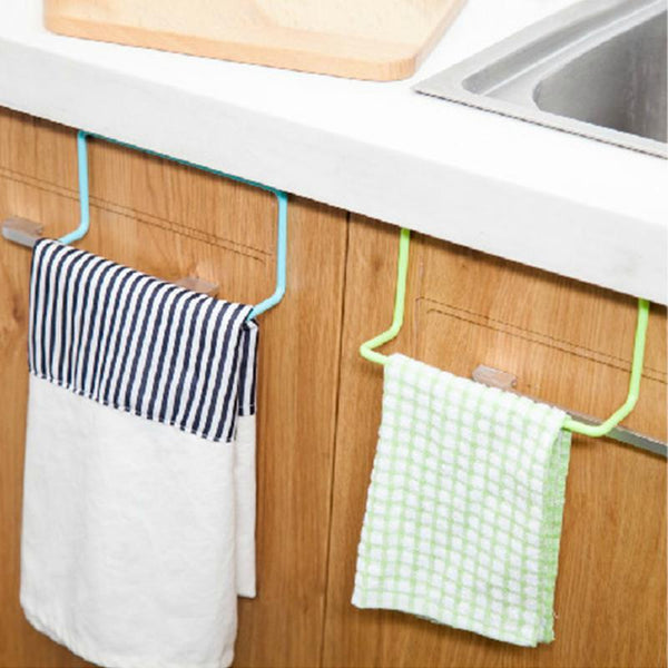 Towel Rack Hanging Holder Organizer Bathroom Kitchen Cabinet Cupboard Holder