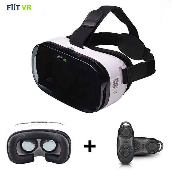 New Hot Sale Fiit 2N Virtual Reality Smartphone 3D Glasses VR Headset Google Cardboard Leather Version Helmet VR Box for 4-6.0 inch Phone Free Shipping