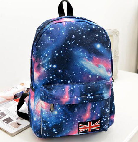 HOT! 2016 new Multicolor Women Canvas Backpack Stylish Galaxy Star Universe Space Backpack unisex School Back bag 5 color C-123
