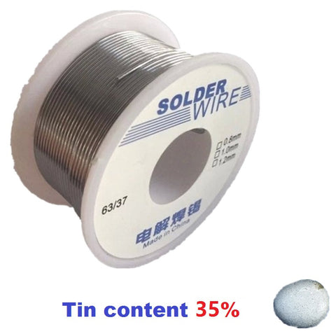 2017 Hot Design 100g 0.8mm 35% Tin Solder Wires Rosin Containing High Purity Eco-friendy 2.0% Flux Welding Tool Lower Melting Electronics