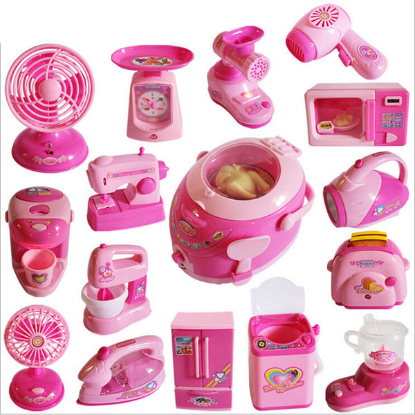 High quality 15 styles Pretend Play kitchen toys children early education home appliances