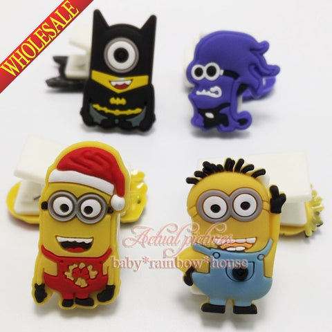 Despicable Me Minions 4pcs/set  bookmarks paper clips office binding supplies school suppies kid party favors,free shipping