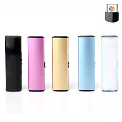 Free shipping Cigarette Accessories Slim cigar lighters Simple style USB rechargeable windproof lighter GX258