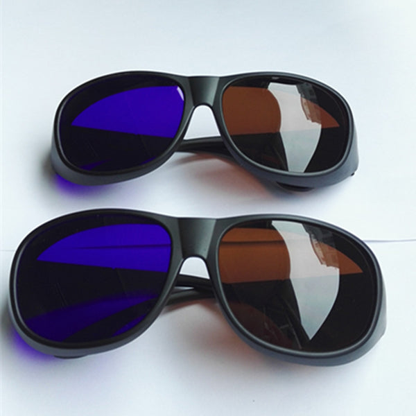 2pcs Big Frame Amber Blue 3D glasses/brown blue 3D Vision Glasses Anaglyph Glasses for Camera Film