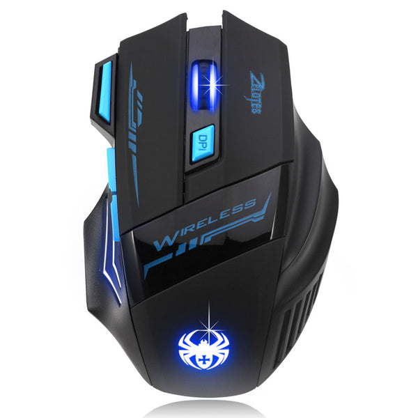 ZELOTES 2018 New Adjustable 2400 DPI Optical Wireless Mouse Gamer Mice computer mouse Gaming Mouse For Laptop PC Drop shipping