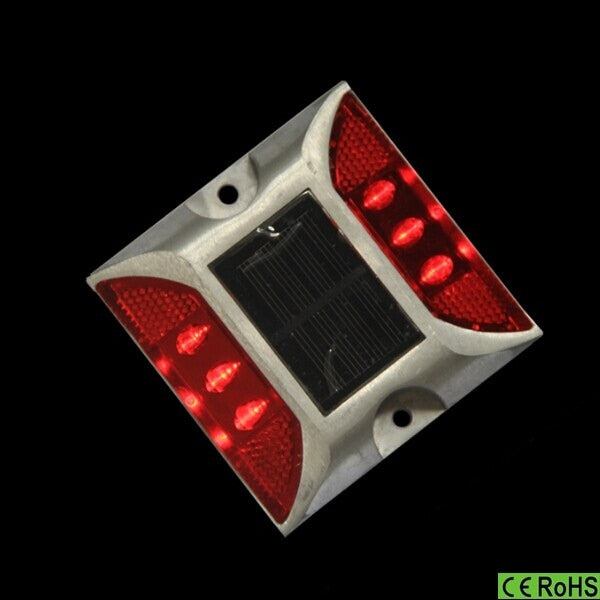 2015 New Arrival Outdoor IP68 500LM  Solar 6 LED Underground Buried Light Lamp Brick Deck Garden Street road stud Light