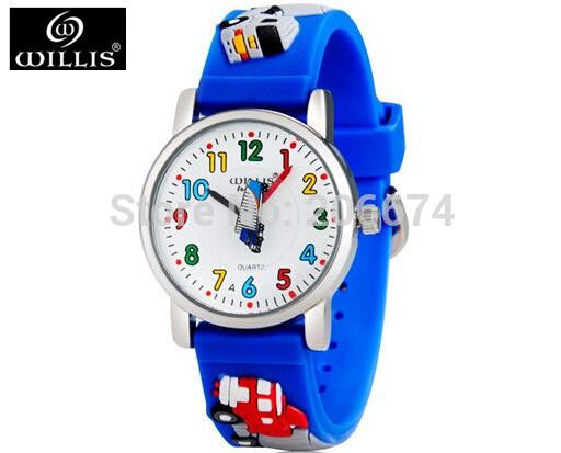 10M waterproof 3D Cartoon Animal Design Analog Wrist Watch Children clock / kid Quartz Wrist Watches