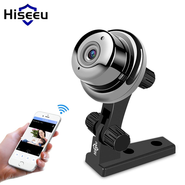 Hiseeu mini fisheys IP Camera 720P day Night Vision 360 cctv camera panorama video Surveillance Home Security wi-fi baby monitor
