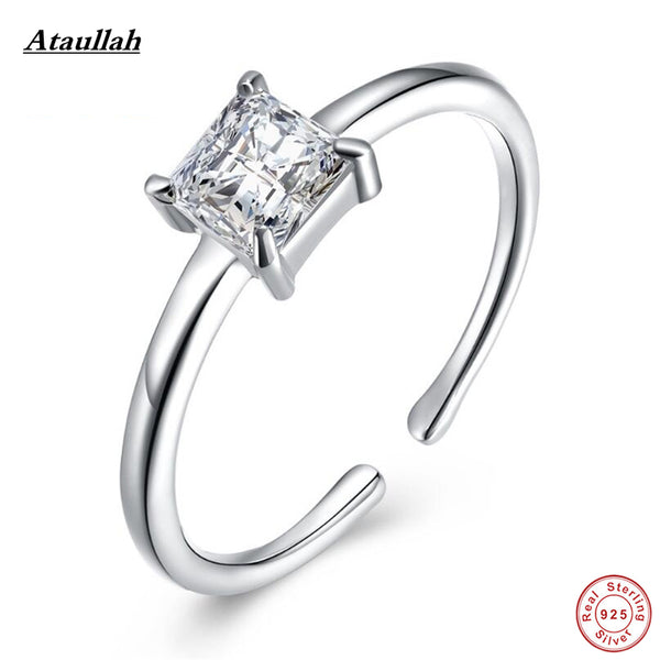 Ataullah High Quality SONA Lab Diamond Fashion Jewelry Wedding Engagement Rings for Women Adjustable Size RWD870