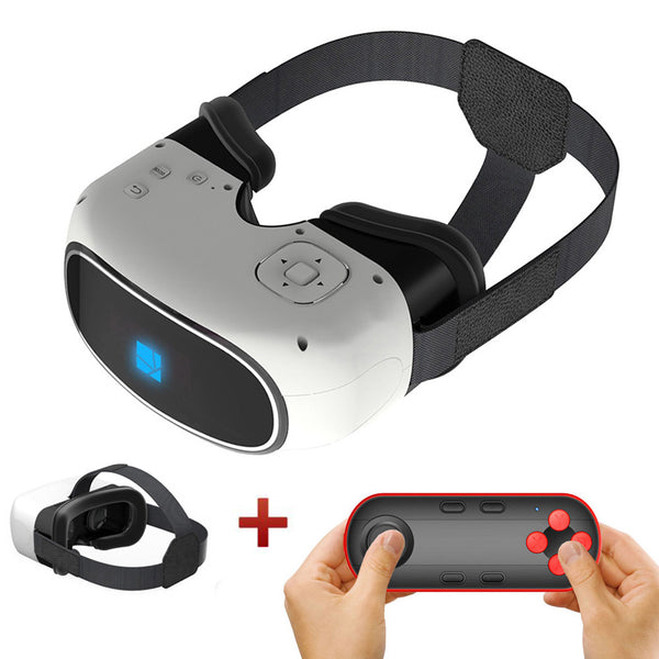2017 New Arrival All-in-one 3D VR BOX Virtual Reality HD Head Mount Headset Quad Core Immersive Amazing Glasses Android Wifi/Bluetooth Google Cardboard Hot Sale