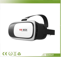 New Hot Selling Google Cardboard VR BOX II 2.0 Polarized Glasses Projector VR Headset For 3.5 - 6.0 inch Smartphone with Free Shipping