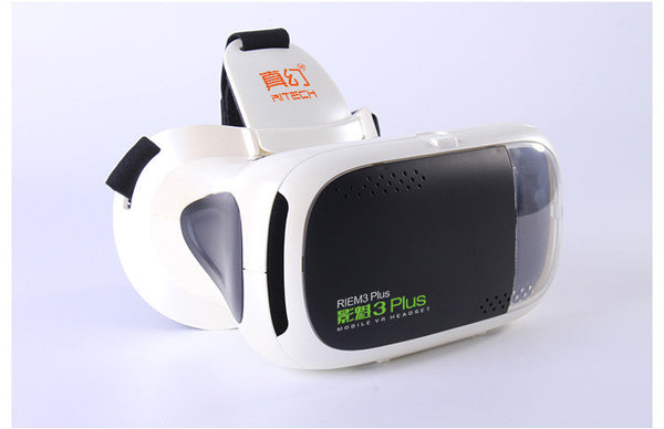 New Arrival RITECH RIEM3 Plus 3D VR Glasses Virtual Reality Box Head Mount Private Theater Mobile VR Headset for 4.7-6.0