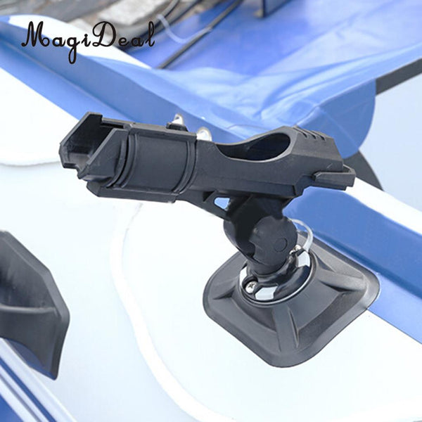 MagiDeal Universal 360 Degree Adjustable Kayaks Fishing Boat Rail Side Mount Rod Holder Tool for Rowing Boat Replacement Acce