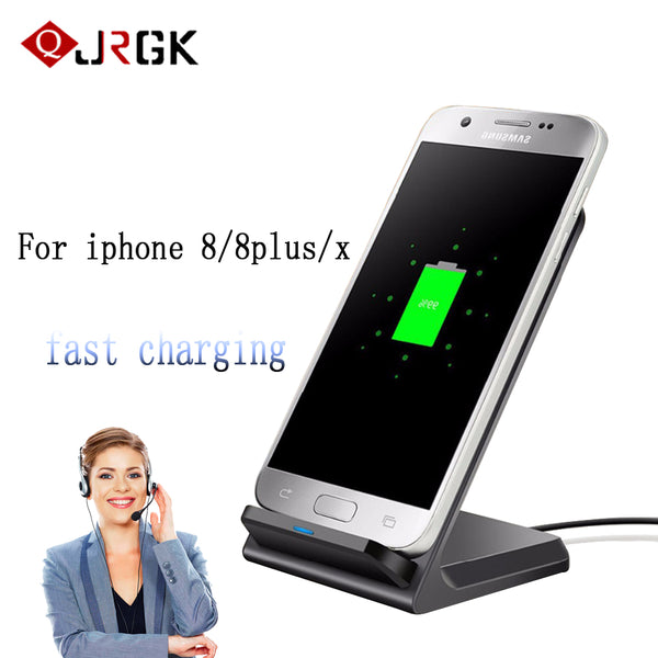 10W wireless phone charger For iphone 7 8 samsung galaxy S5 S7 s7 edge S8 fast For iphone x wireless fast charger cell phone