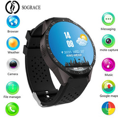 Kw88 Smart Watch Android 5.1 IOS Electronics Support 3G Wifi Micro SIM Android 1.39 Inch CPU MTK6580 SmartWatch Phone Y15*