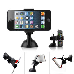 Universal 360 Degree Rotating Car Phone Windshield Duckbill Clip Mount Holder Stand For Cell Phones GPS Tablet PC Accessories