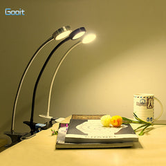 LED Eye Protection Dimmable Table Lamp With Clip USB Reading Desk lights