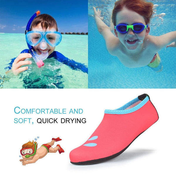 Children Outdoor Swimming Shoes Breathable Summer Beach Socks Water Shoes Boys Girls Soft Diving Wading Shoes XS-XL