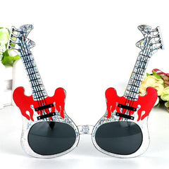 2018 New Rock Guitar Glasses Sunglasses Kids Adults Bar KTV Eyewear Halloween Dance Party Favors Gift