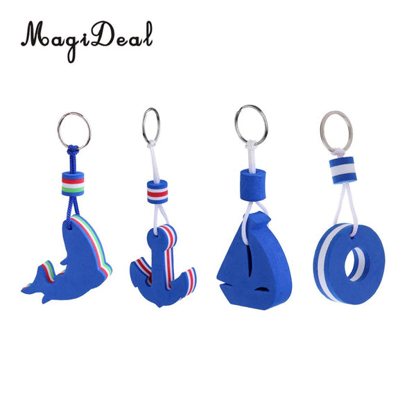 MagiDeal 4 Pieces Yachting Boating Sailing Floating Keychain Keyring Key Ring Blue for Canoeing Rafting Dinghy Water Sports Acce