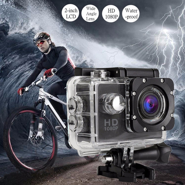 Waterproof Full HD 1080P Sports Action Camera DVR Cam DV Video Camcorder Jun14