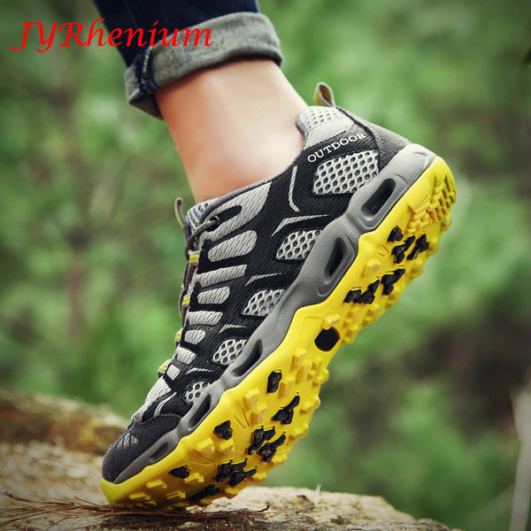 JYRhenium 36-46 Size Men Outdoor Sneakers Breathable Hiking Shoes Big Size Men Women Outdoor Climbing Sneakers Trekking Trail