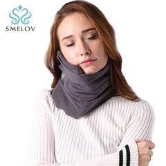 comfoft scarf travel pillow neck cushion portable ergonomic airplane home office plane neck head rest nap Sleep Massage pillows