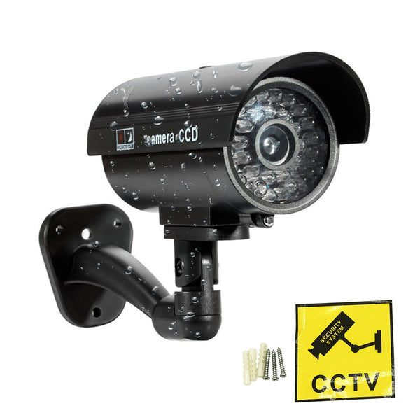 ZILNK Fake Camera Dummy Waterproof Security CCTV Surveillance Camera With Flashing Red Led Light Outdoor Indoor
