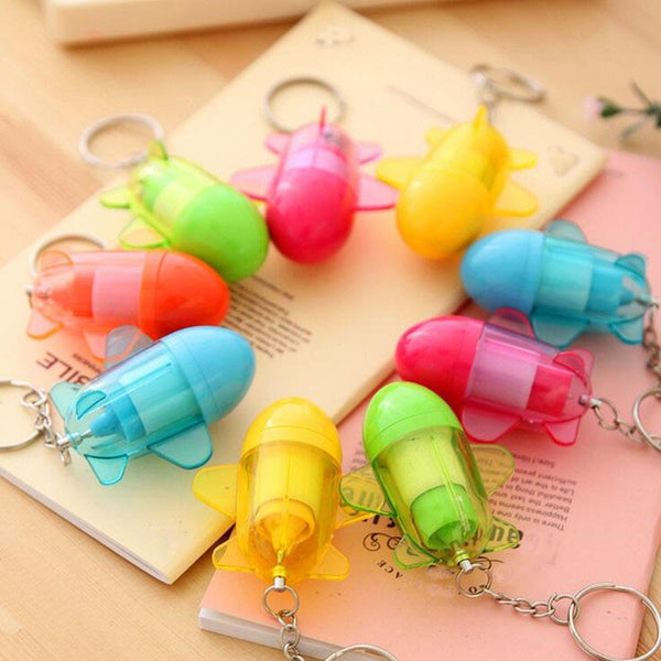 2018 New Cute Retractable Cartoon Plane Ball Point Pen Office School Stationery Pens Kids Birthday Party Favors