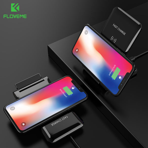 FLOVEME 10W Wireless Charger For iPhone X 8 9 Plus Samsung Galaxy S9 S8 Plus Note 9 8 Qi Wireless Phone Charger Charging Pod