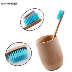mouth clean Health clear blue brush bamboo toothbrush eco friendly wooden tooth brush fibre soft brush Adult travel toothbrush