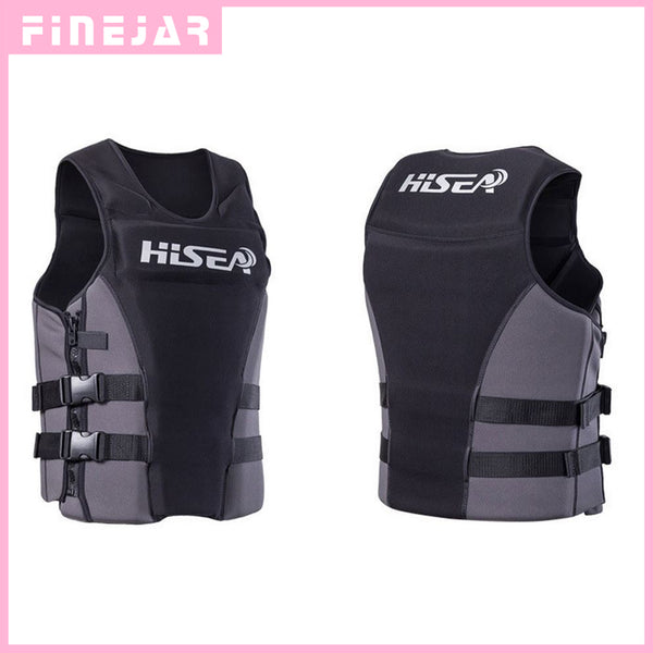 Hisea Professionl Buoyancy Life Jacket Vest With Material Neoprene for Men Women Surfing Motorboat Fishing h2