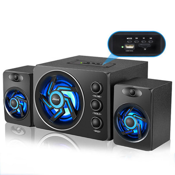 SADA D-209 With Colorful LED Light Desktop Computer Speaker With Subwoofer Perfect 2.1 Gaming And Multimedia PC Speakers